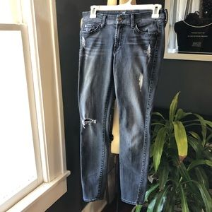 7 For All Mankind skinny black jeans